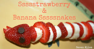 strawberry and banana snakes fun family crafts