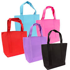 bulk large solid colored tote bags at dollartree