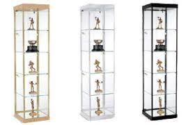 Acrylic Display Cabinet Glass Showcases Countertop Floor Standing U0026 Tower Style Displays