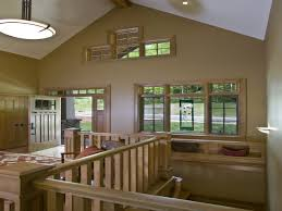 Slope Ceiling by Decorative Ceiling Beams Beams Run Horizontal With