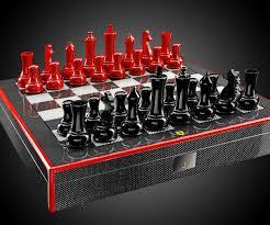 Fancy Chess Boards Ferrari Carbon Fiber Chess Set Dudeiwantthat Com