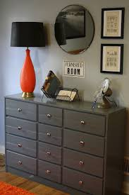 painted gray dresser perfect for a teenage boys bedroom teenager