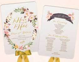 Wedding Program Hand Fans Wedding Fan Program Etsy