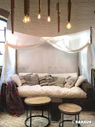 rahaus sofa lounge sofa bett couchtisch holz himmel kissen light l