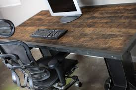 Industrial Looking Desk by Vintage Industrial Desk I Beam Electric Sit Stand Available