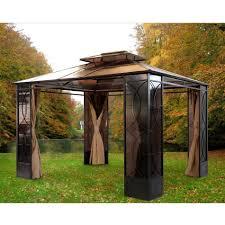 10 X 12 Patio Gazebo by Outdoor Sunjoy Gazebo Lowes Patio Gazebo Patio Gazebo Canopy