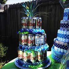 beer can cake chevron under the sea baby shower u2014 kb aesthetics
