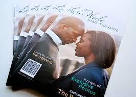 magazine wedding programs lola wale s magazine style save the date capitol