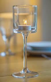 glass tea light holders glass tealight holders 20cm long stem tea light holder dm hay