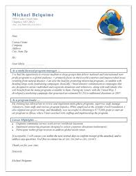 Cover Letter Examples Resume by Manager Cover Letter Example