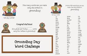 classroom freebies groundhog day word game