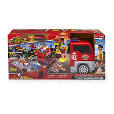 fast lane fire city playset toys
