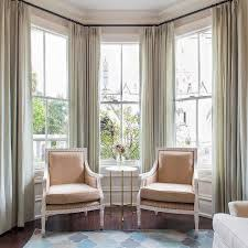Beige And Green Curtains Decorating Gray Green Curtains Bay Window Decorating Ideas Beige Armchairs