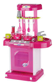 Kitchen Sets For Girls Toyrific Play Kitchen Set With Lights And Sound Amazon Co Uk