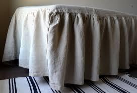 stonewashed linen bed skirt valance dust ruffle
