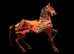 Horse With American Flag Dinger Carousel Collection To Oh Carouselhistory Com