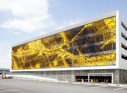 parking structure art facade rob ley studio archdaily