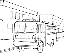 awesome fire truck coloring pages with firetruck coloring page