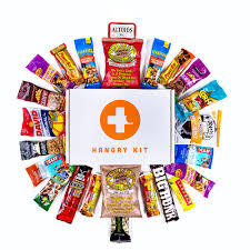 hangry kit essential kit sweet and salty snack care package