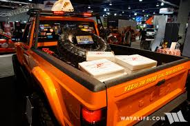 jeep comanche pickup truck pre 2017 sema jcr offroad orange jeep comanche