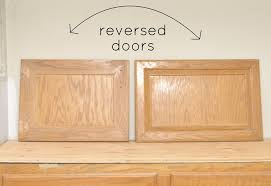 reverse cabinet doors for a more shaker look brilliant idea for