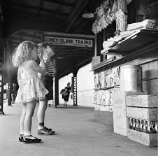 coney island subway outdoor station 1950s old coney island in