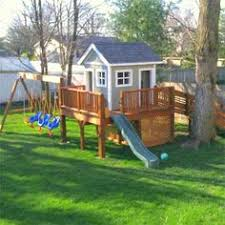 Kids Backyard Play Set by Raised Clubhouse I Thought I Wanted A Swing Set But Go