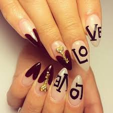 acrylic love nails uñas acrilicas decoradas diseño love