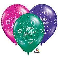 happy new year balloon happy new year 11 inch qualatex balloons fancy balloons