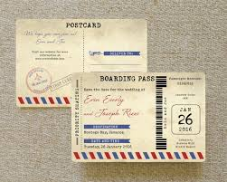 Boarding Pass Save The Date Air Mail Boarding Pass Postcard Save The Date Jamaica