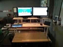 standing desk upgrade with ikea capita brackets brandons blog