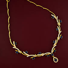 sapphire necklace gold chain images Blue sapphire necklace necklaces gold jewellery jpg