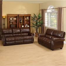 Leather Livingroom Sets Abbyson Lorenzo Dark Burgundy Italian Leather Chair And Sofa Set
