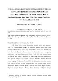 artikel format paper ilmiah format artikel karya ilmiah ut