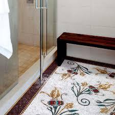 indoor mosaic tile bathroom floor glass the rug ario sicis