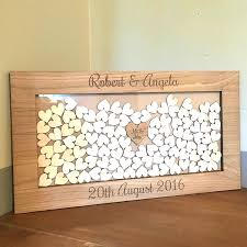 alternatives to wedding guest book wooden drop box wedding guest book alternative personalised with