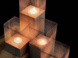 porta candele come fare un porta candele con legno e rete metallica