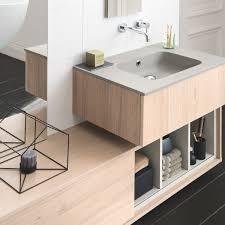 meuble sous vasque sur mesure façades matières et poignées au choix pour votre salle de bains