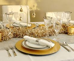 gold and silver christmas table decorating ideas silver