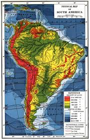 Physical Map Of South America Rivers by South America Physical Map