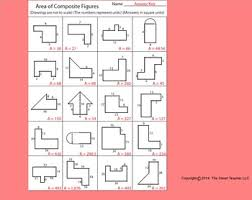 area of composite figures worksheet worksheets the area and