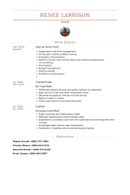 Resume Sample For Cook by Stay At Home Mom Resume Samples Visualcv Resume Samples Database