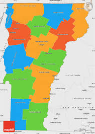 Vermont County Map Political Simple Map Of Vermont Single Color Outside Borders And