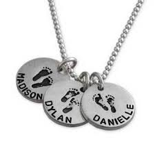 Custom Charm Necklaces Round Prints Charm Necklace