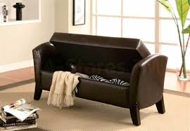 simple brown leather storage bench storage bench galleries