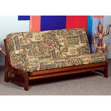 monet full size wood futon frame armless dark cherry dcg stores