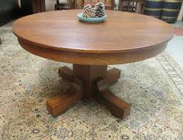 Antique Oak Dining Tables Round Oak Table Shelby Knox