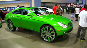 lexus swangas candy green mercedes benz cls 500 on 26
