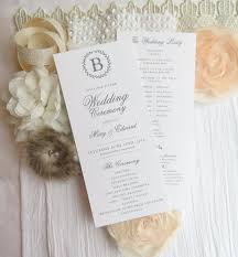 printed wedding programs printed wedding programs ceremony program sided
