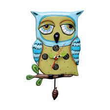 Clock Designs by Amazon Com Old Blue Owl Pendulum Clock Home U0026 Kitchen